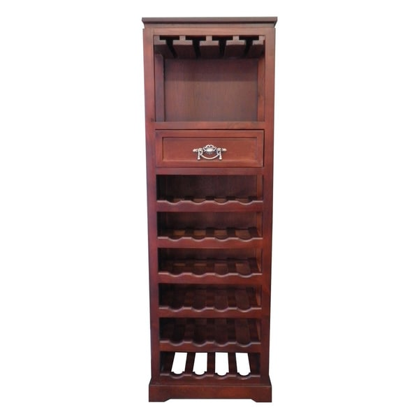 Handmade Mahogony 24-Bottle Tall Wine Rack (China)