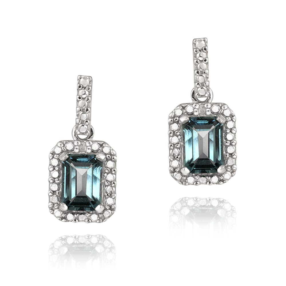 ashley accent earrings v blue width topaz bluefly and com p diamond laura