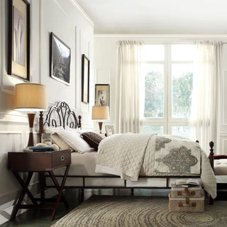 TRIBECCA HOME LeAnn Graceful Scroll Bronze Iron Full-sized Bed