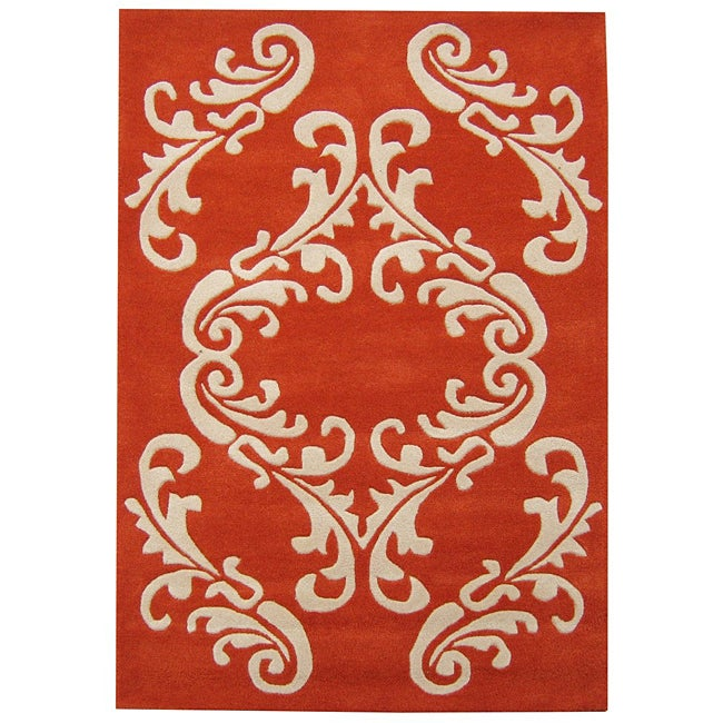 Alliyah Handmade Cherry Tomato New Zealand Blend Wool Rug