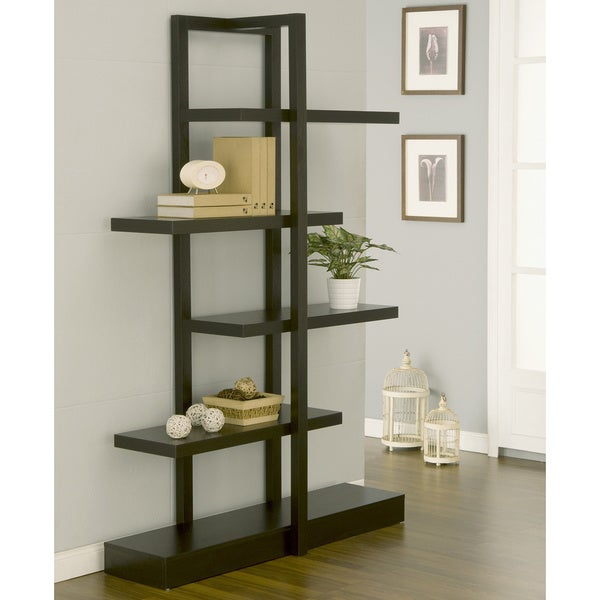 Furniture of America Addison Cappuccino Bookcase Display Stand