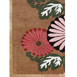 Hand-tufted Tobacco Brown New Zealand Blend Wool Rug (8' x 10')