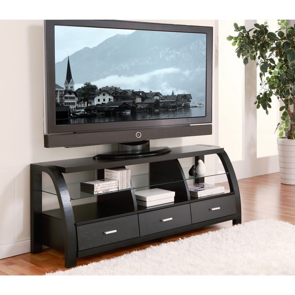 Shop Furniture Of America Grove Black 60 Inch 3 Drawer Tv