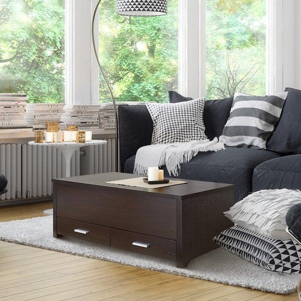 Furniture of america knox dark espresso storage box coffee for Furniture of america assembly instructions