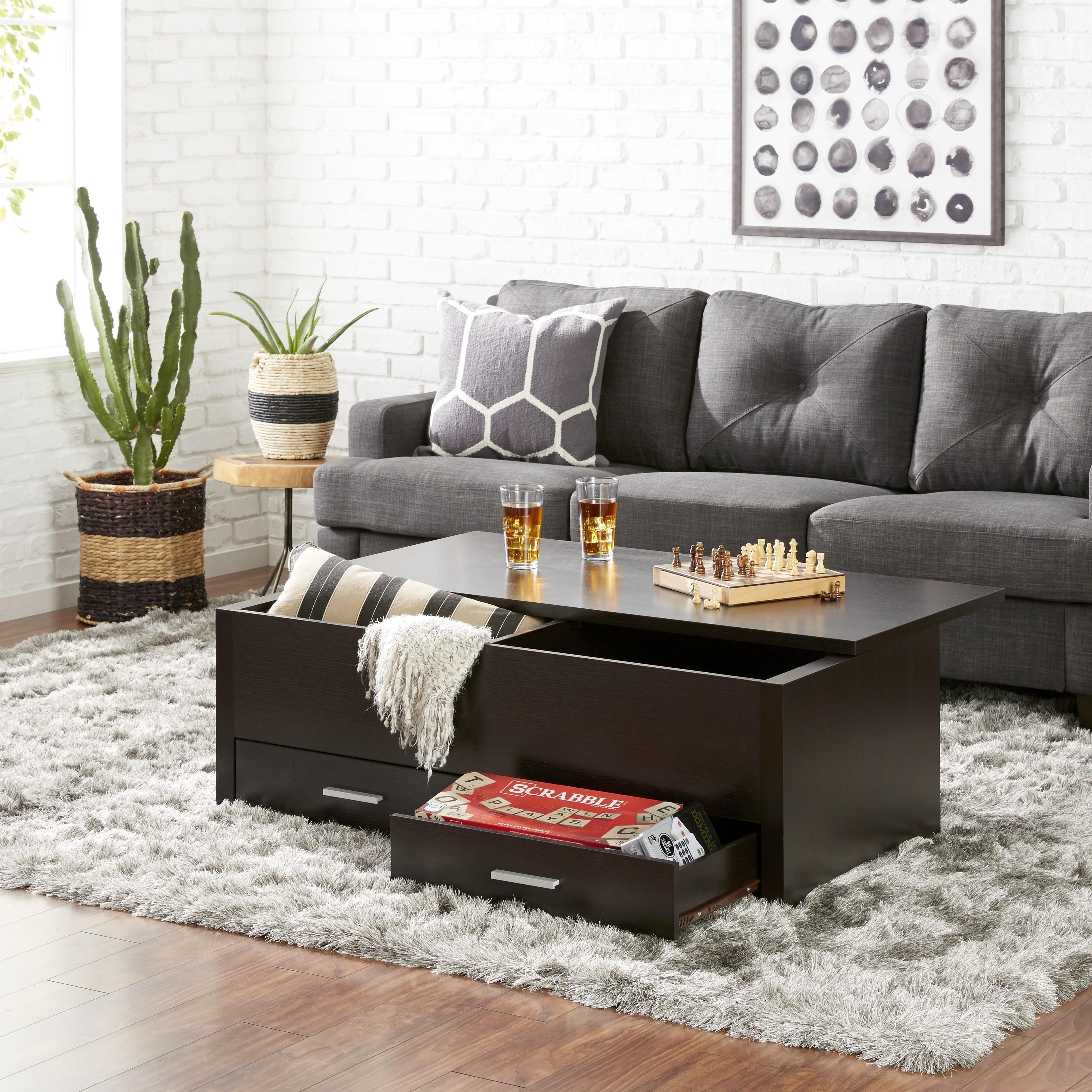 Prime Furniture Of America Knox Espresso Wood Storage Box Coffee Table Uwap Interior Chair Design Uwaporg