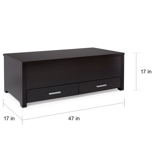 Furniture Of America Knox Dark Espresso Storage Box Coffee Table   Free  Shipping Today   Overstock.com   13878446