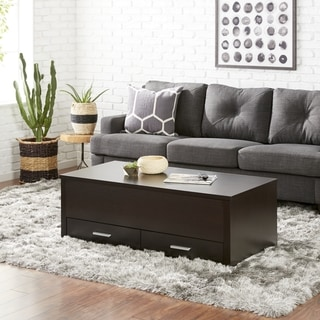 Furniture of America Knox Contemporary Espresso Storage Coffee Table