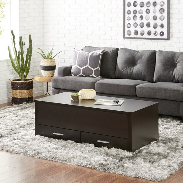 Furniture of America Knox Espresso Storage Box Coffee Table