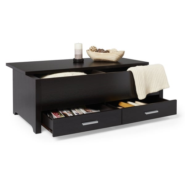 Lovely Furniture Of America Knox Dark Espresso Storage Box Coffee Table   Free  Shipping Today   Overstock.com   13878446