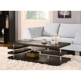 Furniture of America Aven Dark Cappuccino Coffee Table