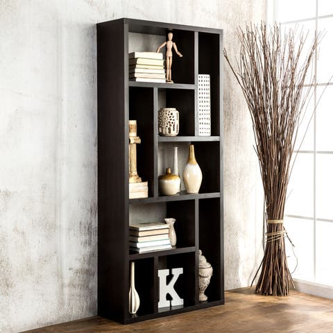 Furniture of America Cappuccino Multi-purpose 3-in-1 Display Cabinet