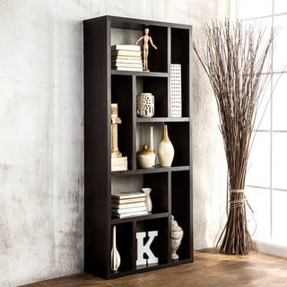 Furniture of America Espresso Multi-Purpose 3-in-1 Display Cabinet/ TV Stand/ Bookcase