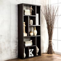 Furniture of America Cappuccino Wood Multi-purpose 3-in-1 Display Cabinet, TV Stand, and Bookcase