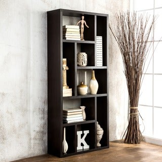Furniture of America Cappuccino Multi-purpose 3-in-1 Display Cabinet/ TV Stand/ Bookcase