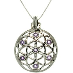 Carolina Glamour Collection Sterling Silver Flower of Life Necklace