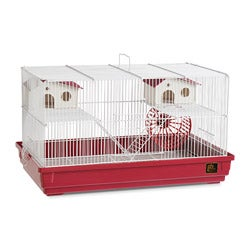 Prevue Pet Products Deluxe Hamster/Gerbil Cage in Bordeaux Red