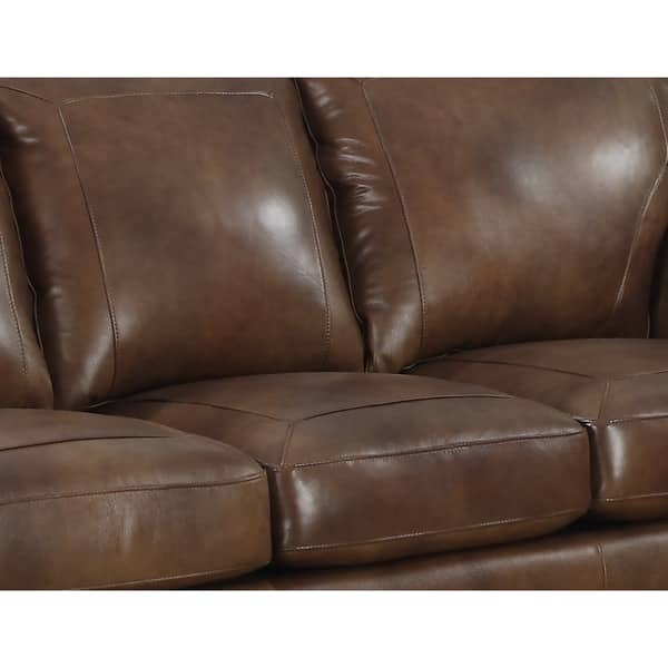 Remarkable Shop Sterling Cognac Brown Italian Leather Sofa And Two Uwap Interior Chair Design Uwaporg