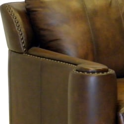 Sedona Hand-rubbed Brown Italian Leather Sofa and Loveseat