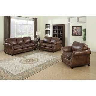 Brown, Leather Living Room Furniture Sets For Less | Overstock