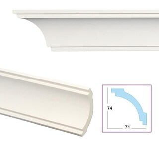 Smooth Cove 4.1-inch Crown Molding (Pack of 8)