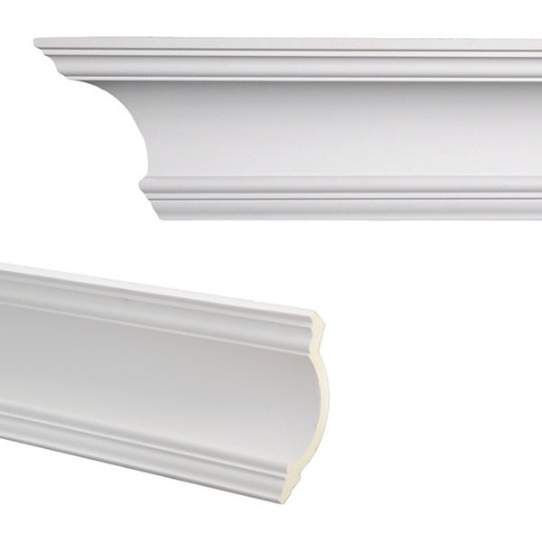 Cove 7 3 inch Crown Molding  Pack of 8. Cove 7 3 inch Crown Molding  Pack of 8    Free Shipping Today