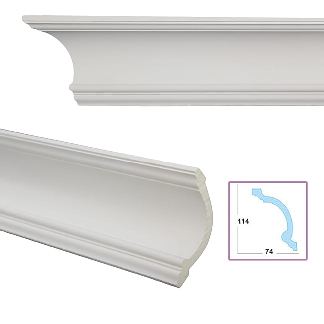 Cavetto 5 3 inch crown molding free shipping today for 9 inch crown molding