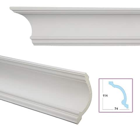 Cavetto 5.3-inch Crown Molding (8 pieces)