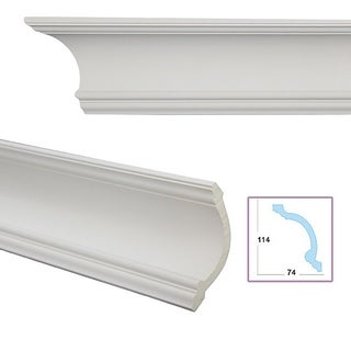Cavetto 5.3-inch Crown Molding (Pack of 8)
