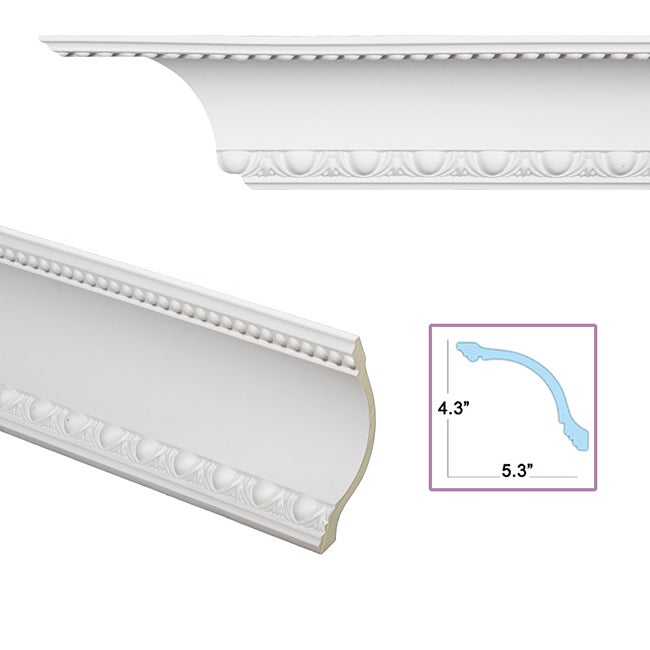 Egg and dart cove 6 8 inch crown molding free shipping for 9 inch crown molding