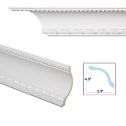 Egg-and-dart Cove 6.8-inch Crown Molding