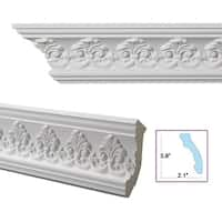 Palmette 4.4-inch Crown Molding (Pack of 8)