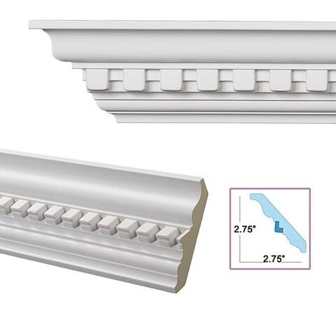 Dentil 3.9-inch Crown Molding (Pack of 8)