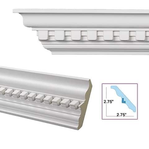 Dentil 3.9-inch Crown Molding (8 pieces)