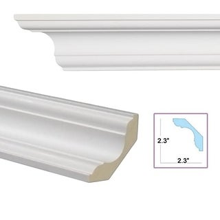 Cavetto 3.3-inch Crown Molding (Pack of 8)