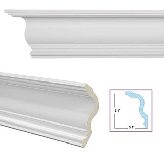 Cyma Recta 6-inch Crown Molding (Pack of 8)