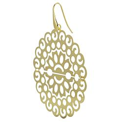 Journee Collection  Goldplated Sterling Silver Ornate Earrings - Thumbnail 1