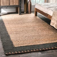 Pine Canopy Violet Handmade Texture Stockholm Jute Rug - 5' x 8'