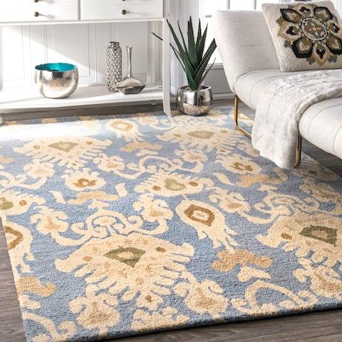 "nuLOOM Handmade Ikat Wool Area Rug - 7' 6"" x 9' 6"""