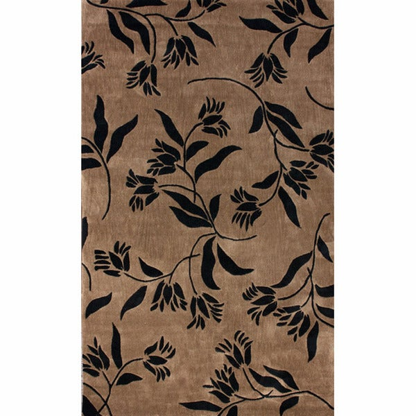 nuLOOM Handmade Pino Floral Rug (7'6 x 9'6)