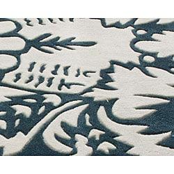 nuLOOM Handmade Pino Damask Rug (5' x 8') - Thumbnail 2