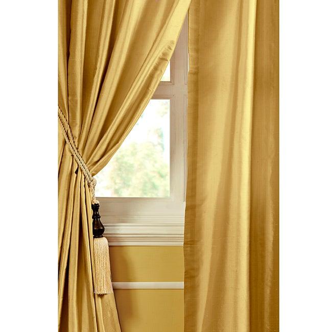 Ciel Dupioni Silk 96-inch Curtain Panel