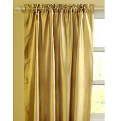Ciel Dupioni Silk 96-inch Curtain Panel - Thumbnail 1