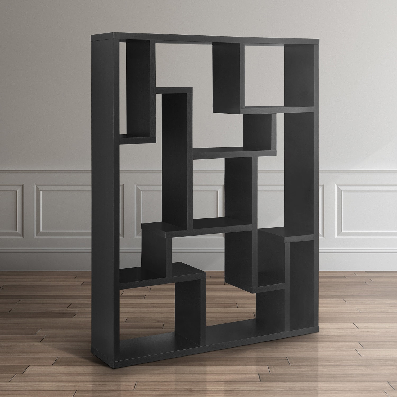 Furniture Of America Mandy Modern Black 9 Shelves Bookcase