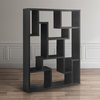 Furniture of America Mandy Black Bookcase / Room Divider
