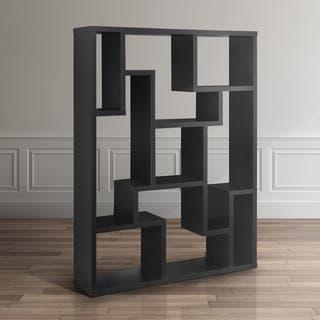 Furniture Of America Mandy Black Bookcase Room Divider