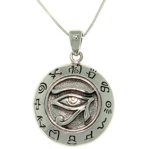 Sterling Silver Eye of Horus Necklace