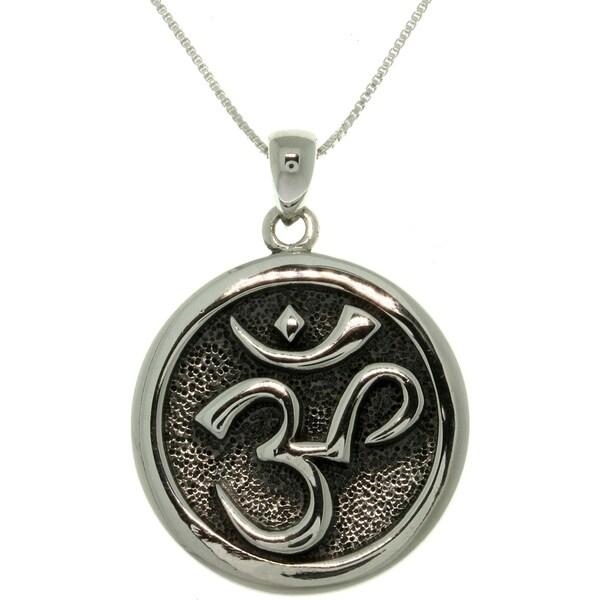 Sterling Silver 'Om' Meditation Necklace