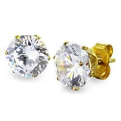 West Coast Jewelry Goldplated Steel 7 mm Cubic Zirconia Stud Earrings|https://ak1.ostkcdn.com/images/products/6237885/West-Coast-Jewelry-Goldplated-Steel-7-mm-Cubic-Zirconia-Stud-Earrings-P13878889.jpg?impolicy=medium
