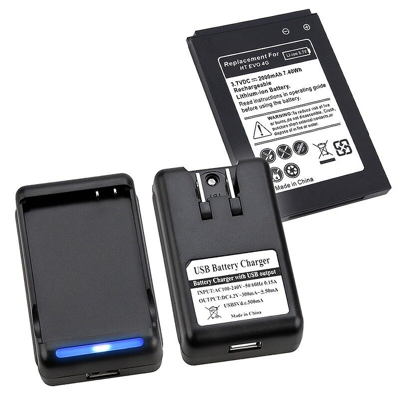 INSTEN Battery/ Battery Desktop Charger for HTC EVO 4G
