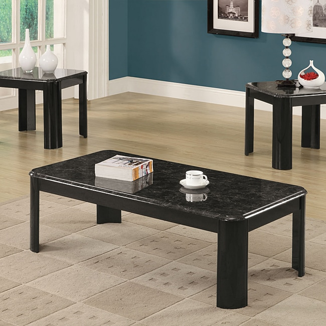 Grey Marble Top 3-piece Occasional Table Set